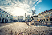 istock Main View of San Carlo Square and Twin Churches, Turin 898842288