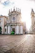 istock Main View of San Carlo Square and Twin Churches, Turin 909245946