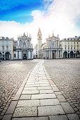 istock Main View of San Carlo Square and Twin Churches, Turin 909249836