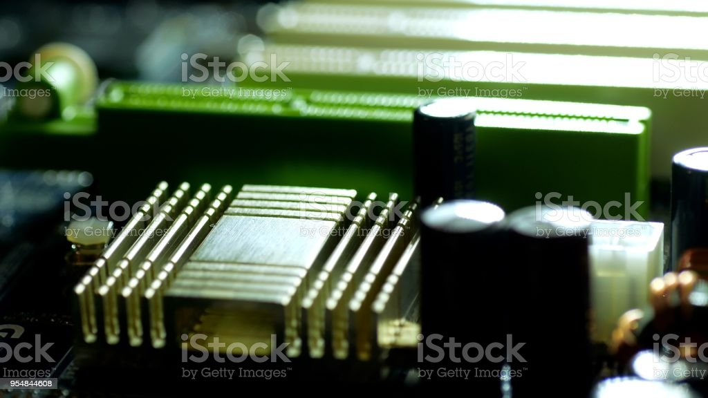 Mainboard Close Up Stock Photo & More Pictures of