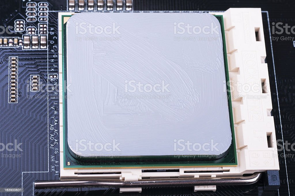 PC Mainboard part with CPU royalty-free stock photo