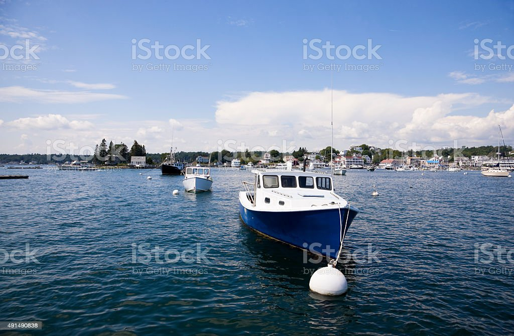 Maine coastal living stock photo