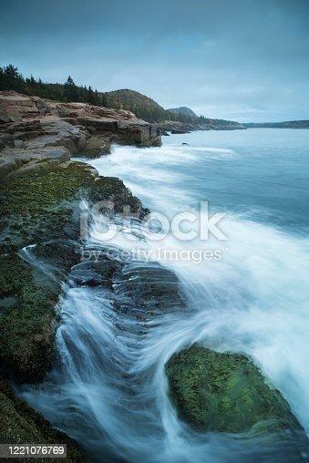 Maine, Sea, Bar Harbor, Horizon, Horizon Over Land