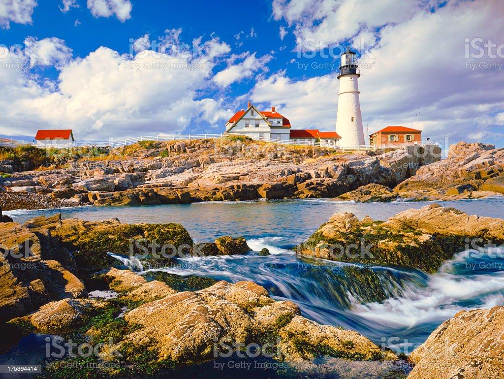 Maine Coastline stock photo