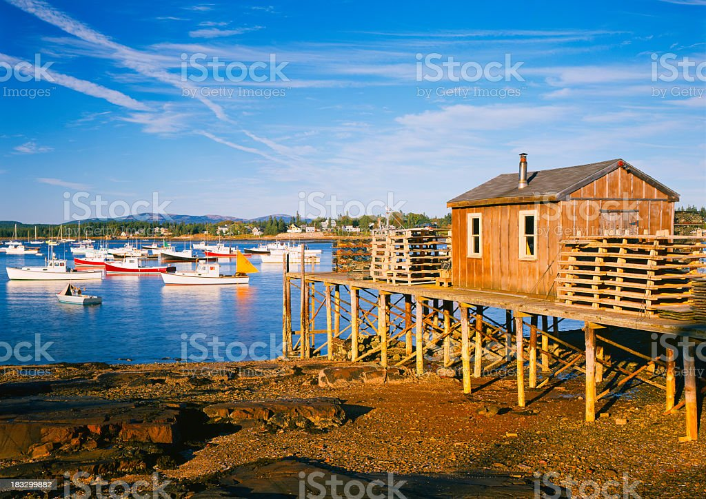 Maine Coastline stock photo