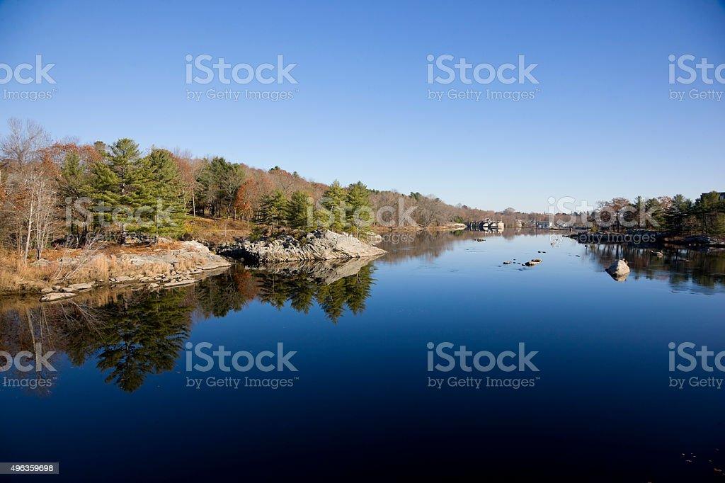 Maine landscapes: Androscoggin River stock photo