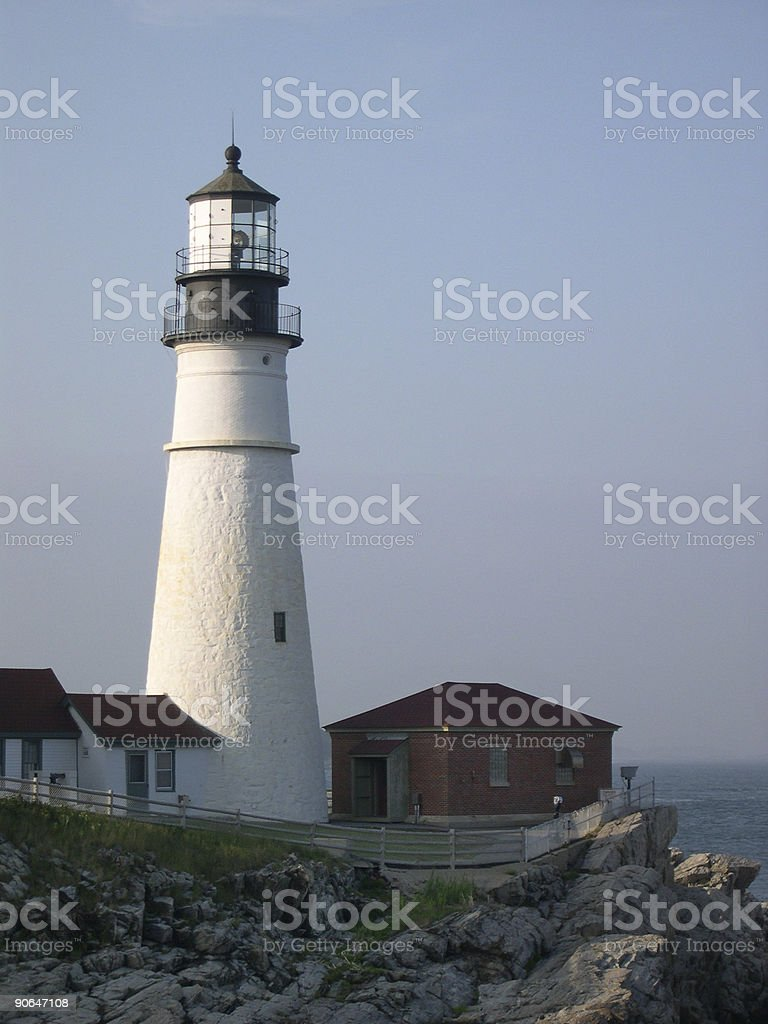 Maine Lighthouse royalty-free stock photo