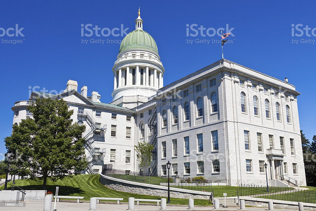 Maine State House In Augusta royalty-free stock photo