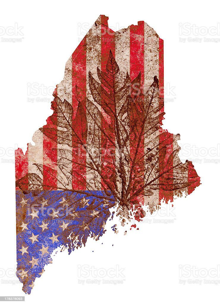 Maine State Map Flag Pattern royalty-free stock photo
