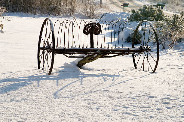 Maine Winter stock photo