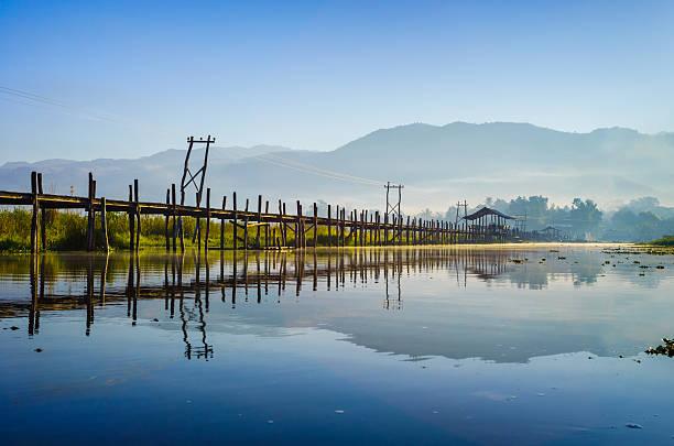 Maing Thauk Bridge, See Inle Lake, Shan State, Myanmar. – Foto