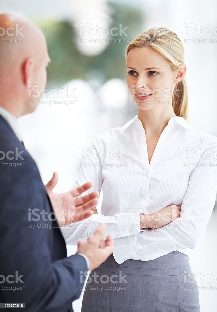 Maintaining good relations with co-workers royalty-free stock photo