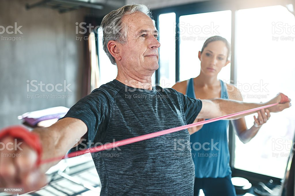 Maintaining healthy muscle no matter the age stock photo