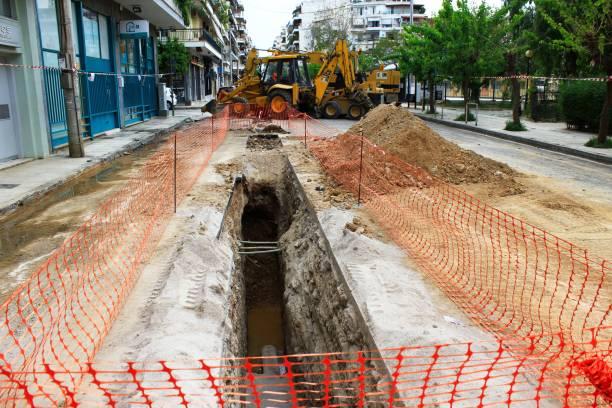 Entretien et réparation du réseau de tuyaux souterrains - Photo