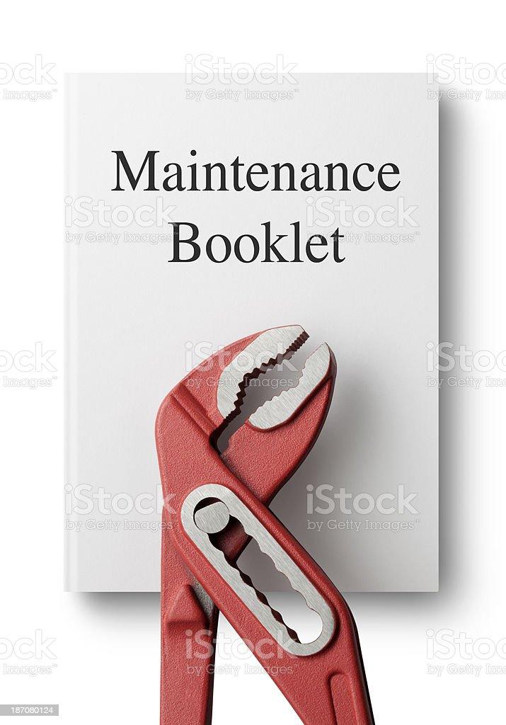 Maintenance booklet royalty-free stock photo