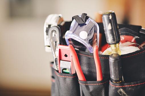 Maintenance DIY tools in tool bag