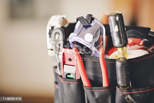 Maintenance DIY tools in tool bag