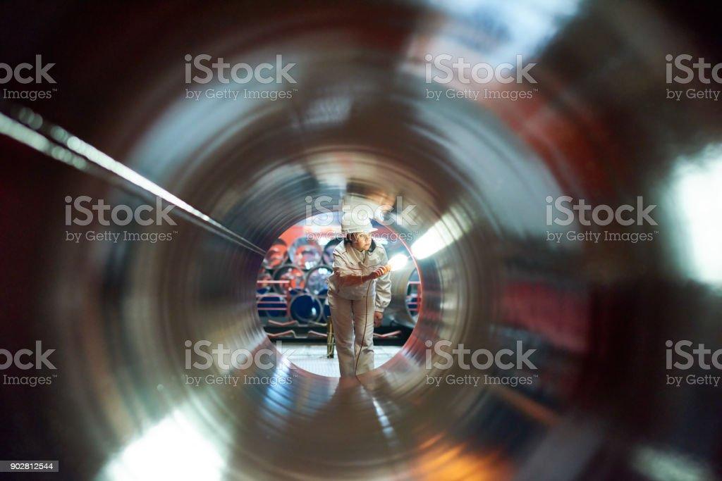 Instandhalter, die Qualität des Rohres – Foto