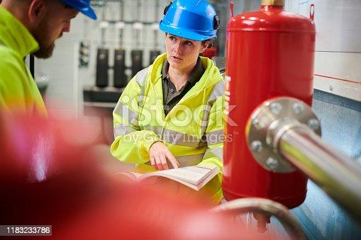 female boiler room operative