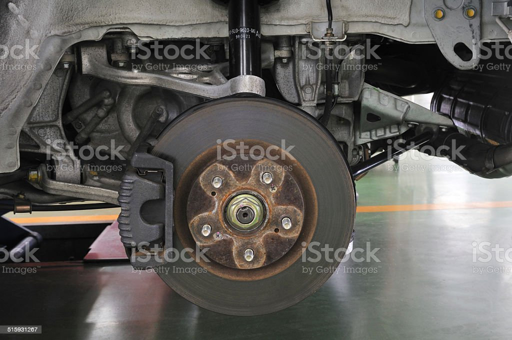 Maintenance of motor vehicles stock photo
