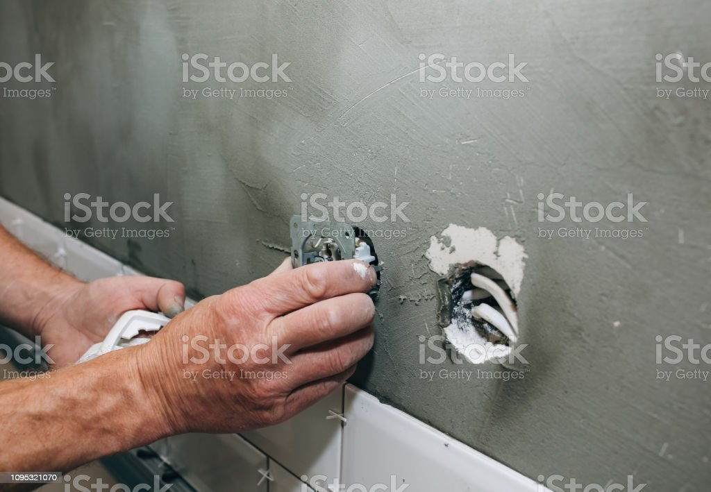 Maintenance repair works renovation in the flat. Restoration indoors....