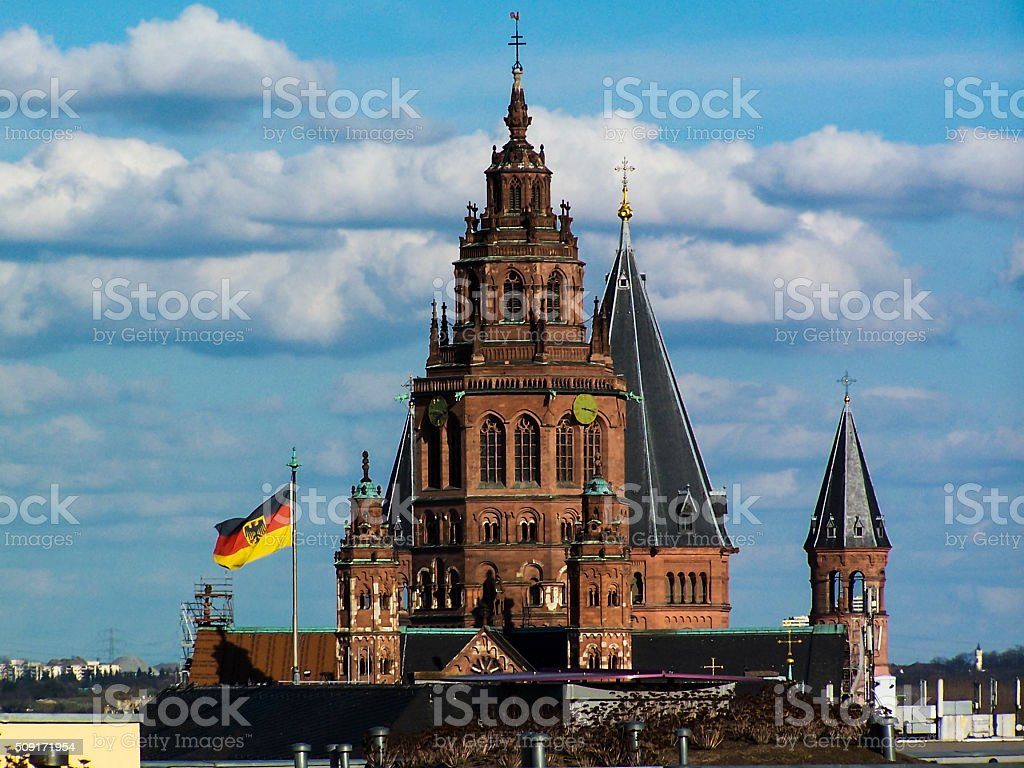 Mainz Cathedral stock photo