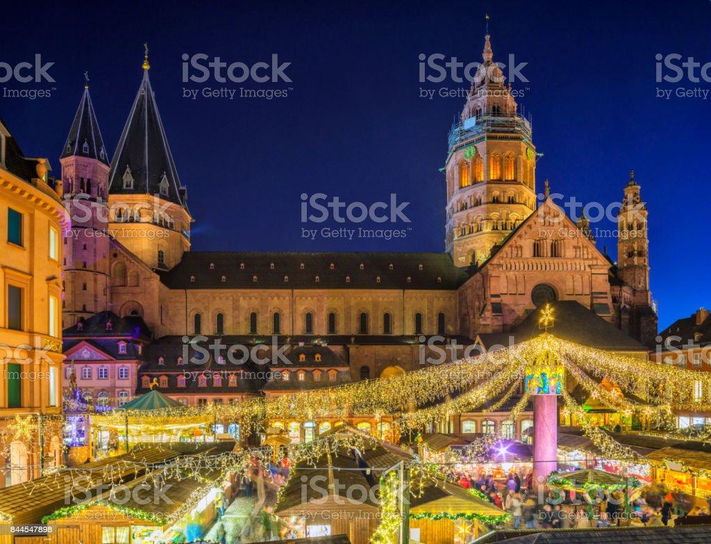 Mainz - Christmas Market stock photo