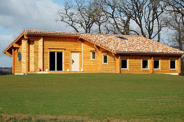 maison bois. stock photo