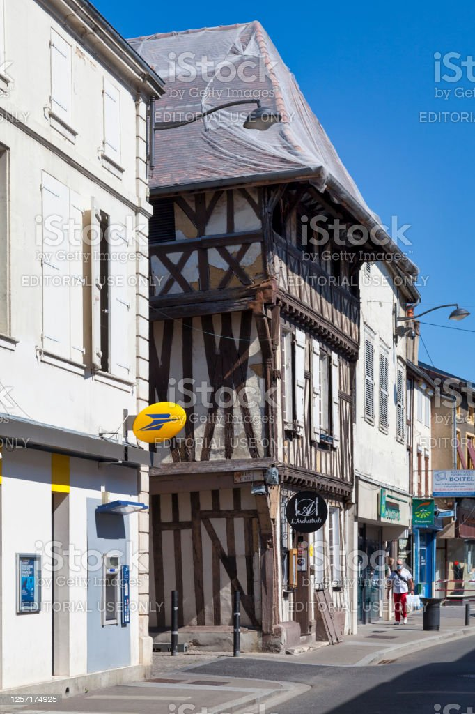 Maison Parcollet in Saint-Dizier Saint-Dizier, France - June 25 2020: The Maison Parcollet in the city center is a half-timbered house dating from the 15th century. Architecture Stock Photo