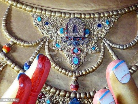 istock Maitreya buddha necklace 486206561