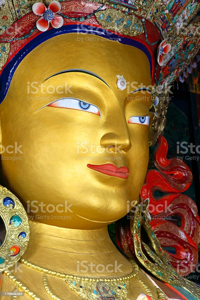 Maitreya Buddha stock photo