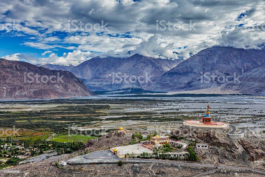 Maitreya Buddha statue  in Diskit gompa, Nubra valley, Ladakh, Inda stock photo