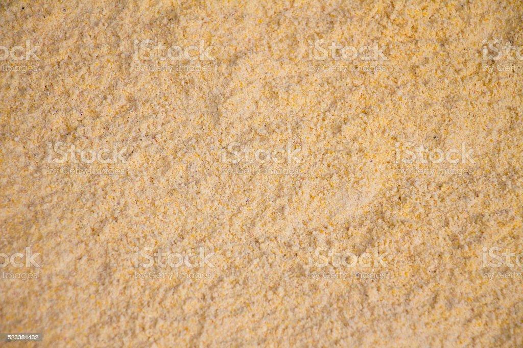 Maize meal close-up stock photo
