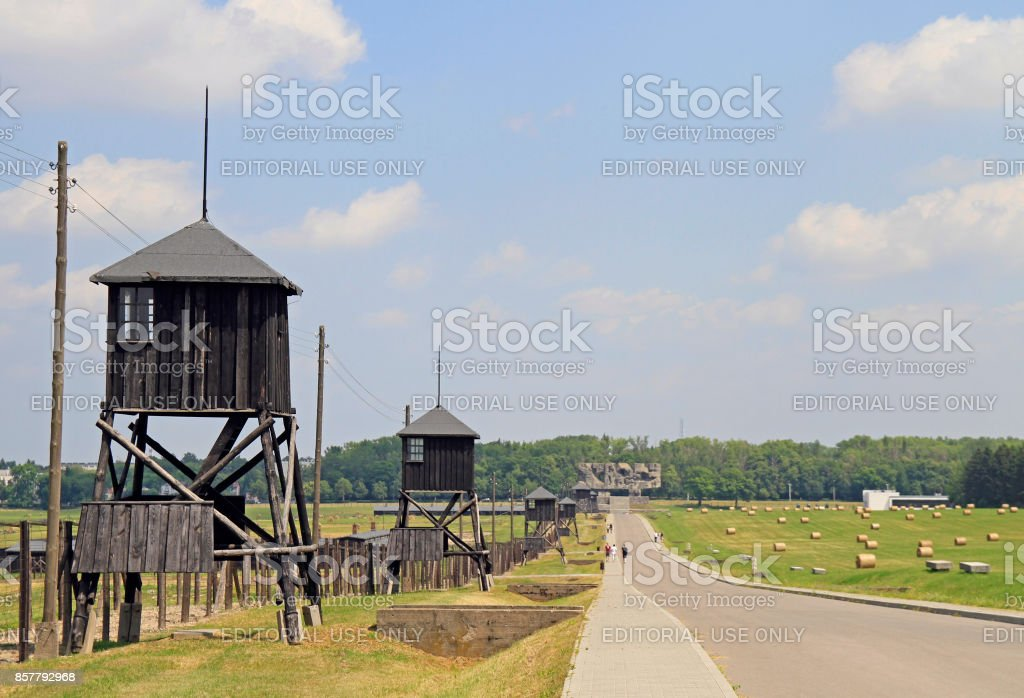 Majdanek concentration camp on the outskirts of Lublin stock photo