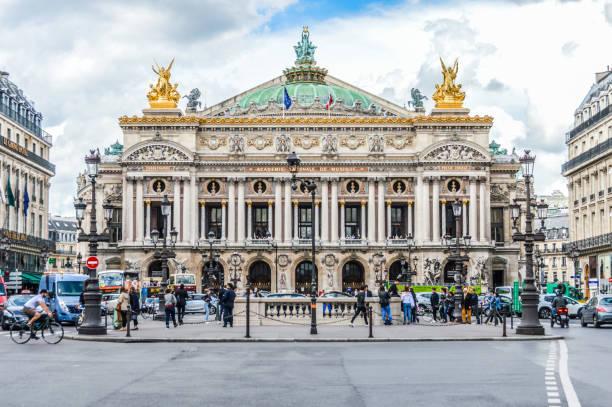 Majestic architecture of Palais Garnier stock photo