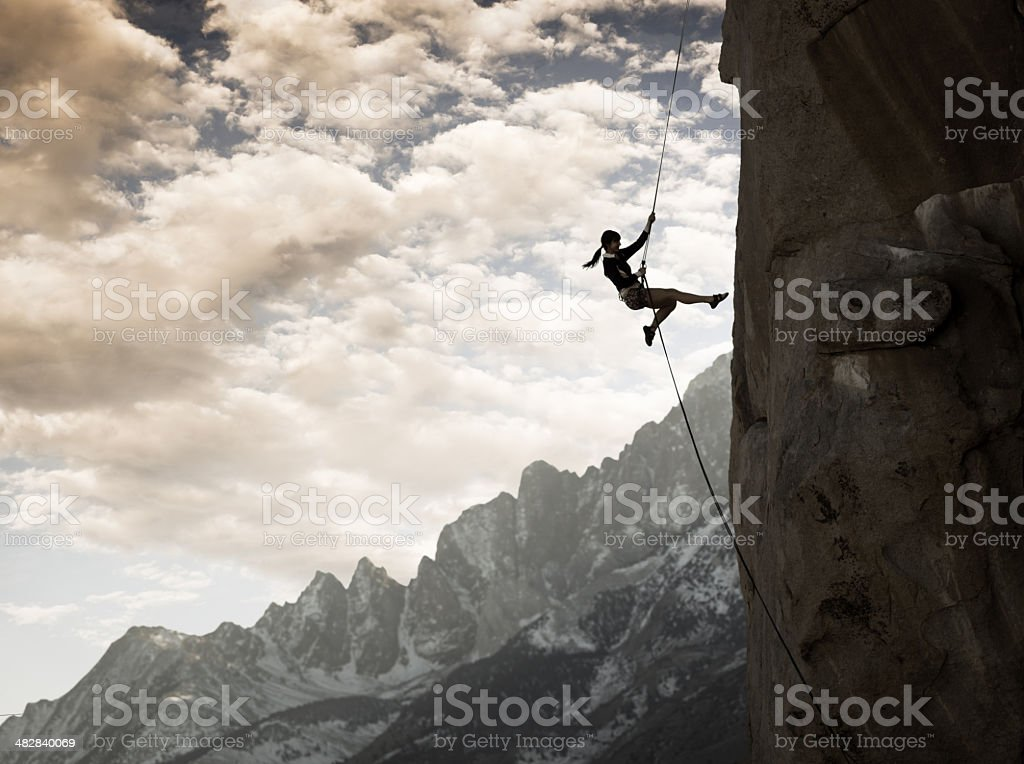 Majestic Climber stock photo