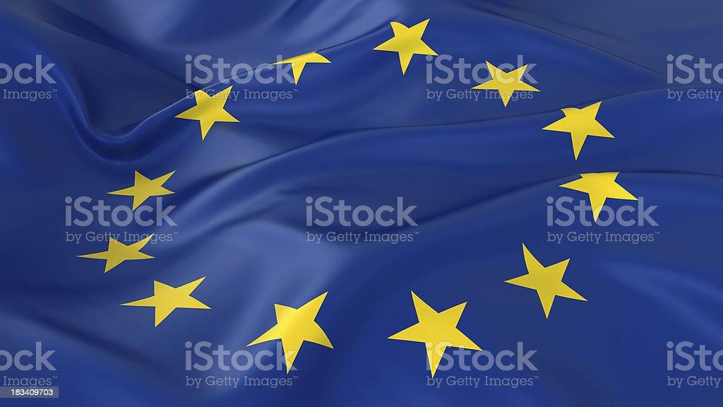Majestic European Union Flag royalty-free stock photo