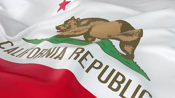 Majestuoso bandera de California - foto de stock