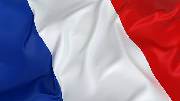 Majestic French Flag stock photo