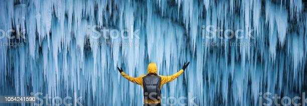Photo of Majestic Frozen Waterfall