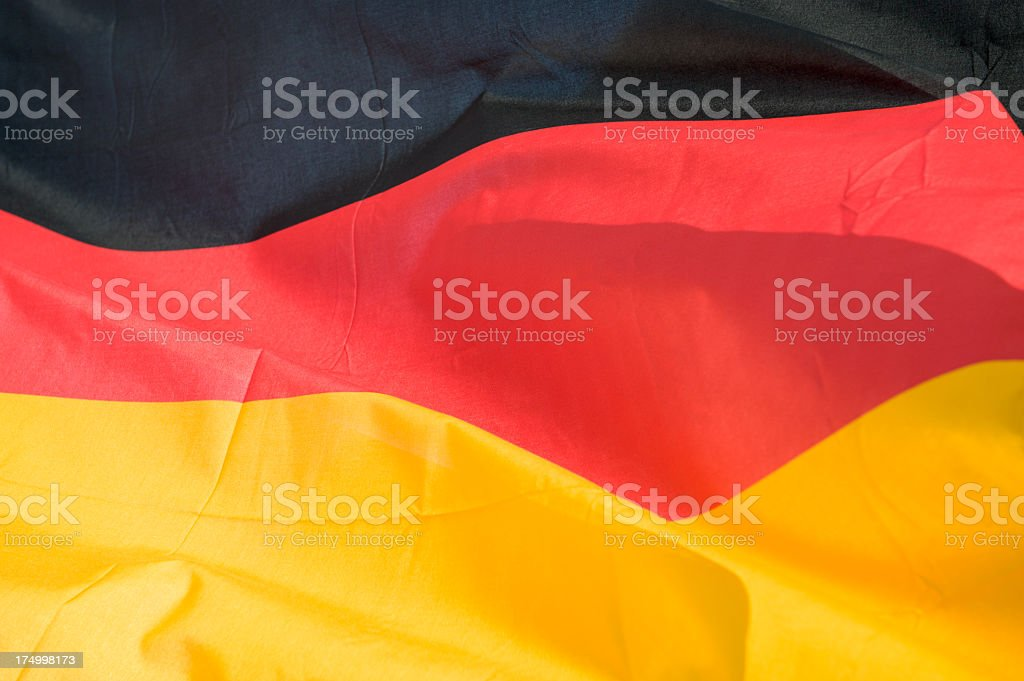 Majestic German Flag royalty-free stock photo
