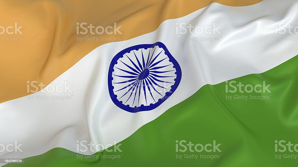 Majestic Glossy Indian Flag stock photo