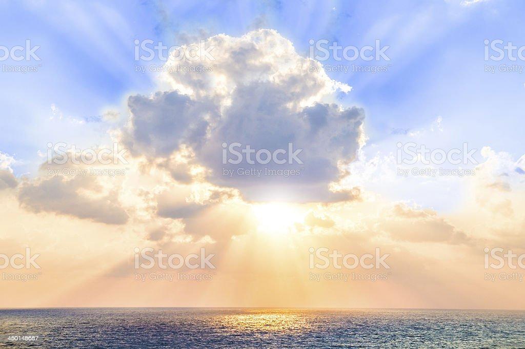 Majestic Glowing Sunrise stock photo