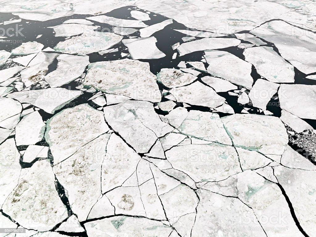 Majestic Iceberg North Pole Greenland Artic Water stock photo