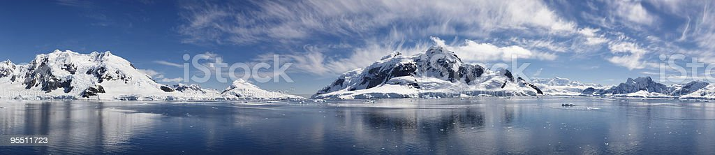 Majestic Icy Wonderland in Paradise Bay of Antarctica圖像檔