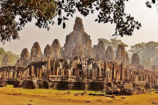 istock Majestic Khmer temple Bayon in Cambodia 1206609450