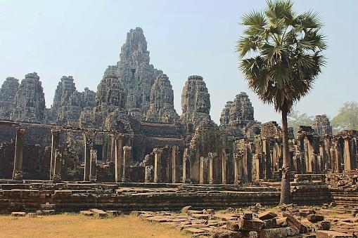 istock Majestic Khmer temple Bayon in Cambodia 1206609454