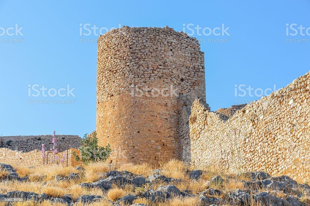 Majestic Larissa Castle in Argos, Greece foto royalty-free