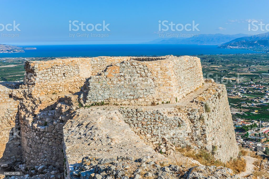 Majestic Larissa Castle in Argos, Greece foto royalty-free