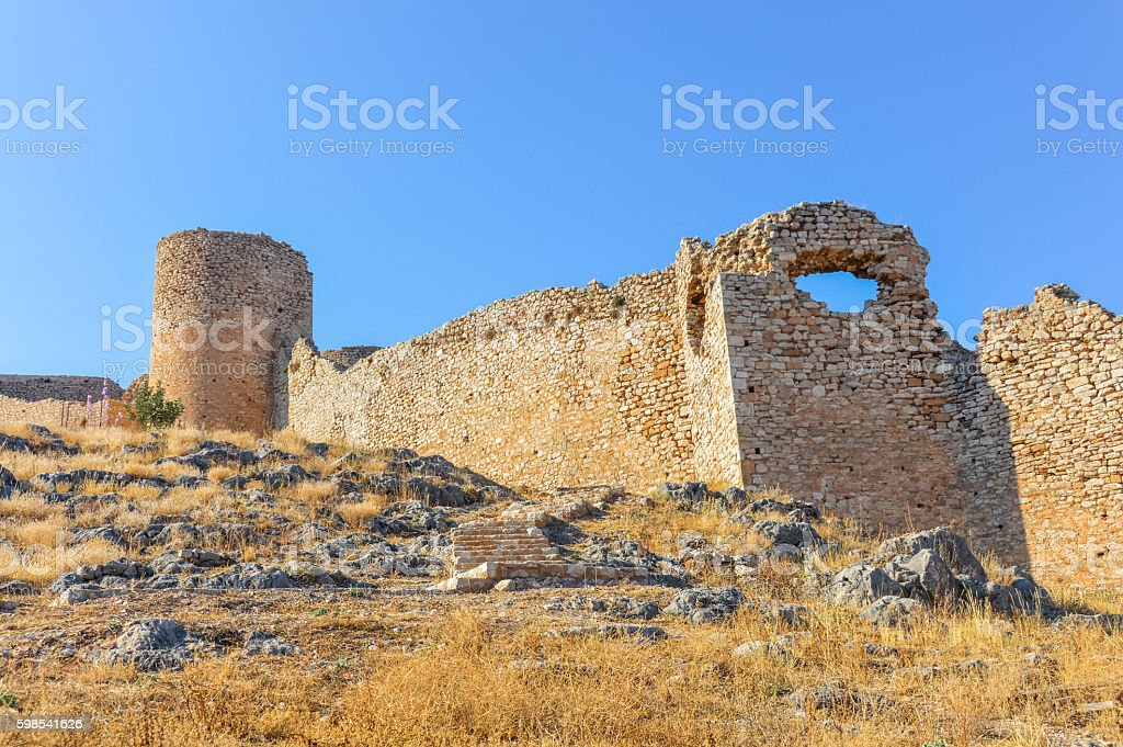 Majestic Larissa Castle in Argos, Greece photo libre de droits